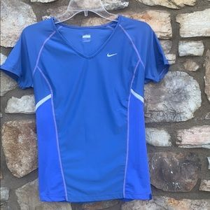 Nike running shirt, blue, medium